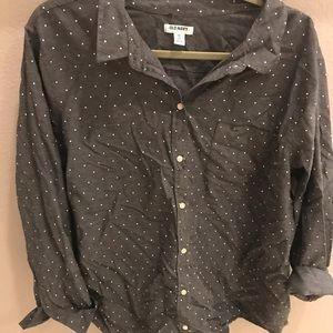 Old Navy Dot Button Down XXL
